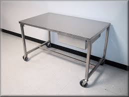 ... Stainless Steel Flat Table with Casters