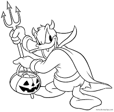 Coloring Pages Mickey Mouse Halloween Coloring Page With Disney