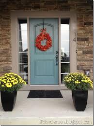 colored front doorsValspar Woodlawn juniper for front door Pretty   Would look