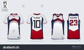 Trikot Designer Blue Red White Sport Shirt Design Template For Soccer Jersey