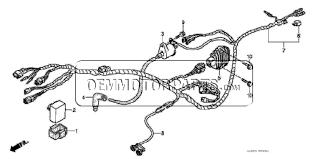 honda trx250ex 2008 wire harness (trx250ex1 2 3 4 5) parts LS1 Wiring Harness Diagram at 2008 Honda 3 5 Wiring Harness