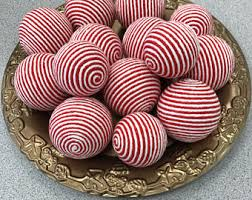 Red Decorative Balls For Bowls Set of 100 Decorative Yarn Balls Pink White and Gray Hand 5