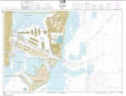 Miami Harbor 11468 44 By Noaa Nautical Charts Nautical