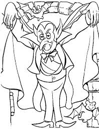 Small Picture Halloween Coloring Pages Dracula Spooky Hallowen Coloring pages