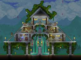 Terraria House Designs Marble Temple Drew Inspiration From Ymirs Design From The