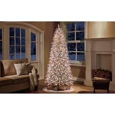 Flocked Christmas Trees  Season Of Good WillSlim Flocked Christmas Trees Artificial