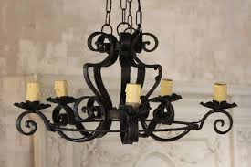 awesome wrought iron chandeliers antique wrought iron chandeliers french vintage wrought iron 5 arm