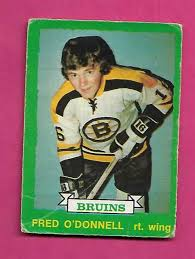 1973-74 OPC # 223 BRUINS FRED ODONNELL ROOKIE CREASED CARD (INV# C5222) |  eBay