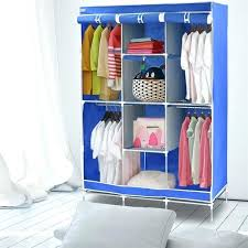 canvas closet organizer portable storage fabric wardrobe home furniture for cosmetics hanging