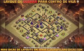 Layouts Para Cv9 Em Guerra Clash Of Clans Dicas