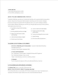 Entry Level Marketing Communications Resume Templates