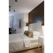 Skyline Furniture White Velvet Diamond Tufted Wingback AptDeco