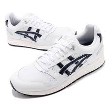 Asics Gel Lyte V Size Chart Details About Asics Tiger Gel Saga White Midnight Navy Mens Womens Running Shoes 1191a231 101
