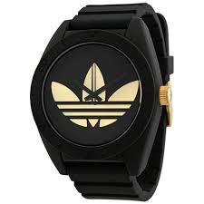 adidas men s adh2712 santiago gold logo watch black silicone adidas santiago xl black dial black rubber strap mens watch adh2712