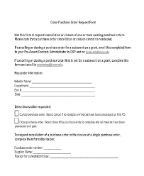 Purchase Order Template Word On Form Request Excel Po