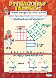 Pythagoras Theorem Chart Maths Shape Pg 2 Cmn Enterprise