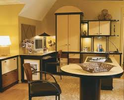 office decorating tips. this home office is unified with a calming color scheme and repeated patterns decorating tips b