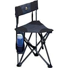 lightweight padded back folding stool black weighs 1 81 kg and supports up to 113