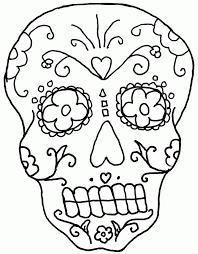 Dia de los muertos skull coloring pages to motivate in coloring. Day Of The Dead Skull Coloring Pages Coloring Home