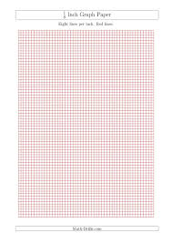 1 8 Inch Graph Paper With Red Lines A4 Size Red