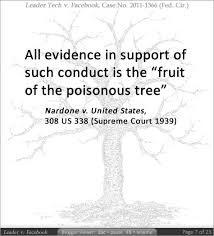 Origin Of Facebooku0027s TechnologyFruit Of Poisonous Tree Doctrine Definition
