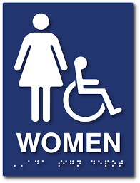 ADA and California Title 40 Restroom Bathroom and Shower Signs New Unisex Bathroom Signs