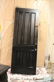 Remodelaholic | Painting A Wooden Exterior Door Black