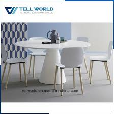 luxury 8 person 1 6m white acrylic solid surface round conference table