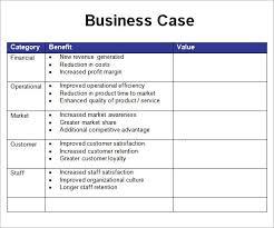 Simple Business Case Templates Business Case Template Bravebtr