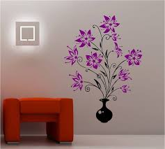flowers wall art sticker vinyl bedroom