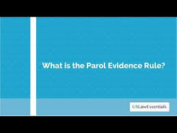 Parol Evidence Rule Chart What Is The Parol Evidence Rule
