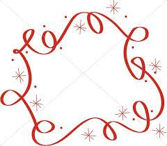 Christmas Swirls Swirls And Stars Border Religious Christmas Clipart