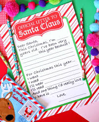 It is christmas time and all the kids will have their own wishes to free santa template printable. Official Letter To Santa Free Printable