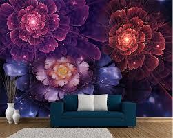 Us 825 45 Offbeibehang Papel De Parede Ukuran Hd Wallpaper Bunga Cantik Biru Ungu Cina Modern Dinding Latar Belakang 3d Wallpaper Tapety In