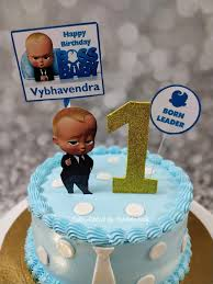 Boss Baby 1st Birthday Cake All Cake Addicts By Vaidehi