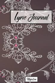 Paper Flower Lyrics Lyric Journal Vintage Flower Design Song Writing Journal With
