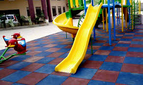 playground flooring rubber tiles