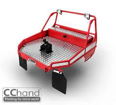 <b>NEW</b> CC HAND <b>METAL rear</b> bucket for RC4WD 1/10 TF2 Mojave red