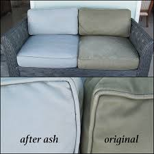 vinyl patio furniture changed from tan to dove gray with ash leather dye before and after