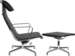 eames office chair replica. Eames Office Chair EA124 Aluminum Group High Back + EA125 Ottoman (Replica) Replica T