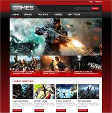 website template video 48 gaming website themes templates free premium templates