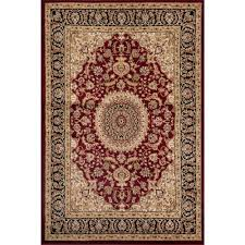 world rug gallery traditional oriental medallion design burdy 8 ft x 10 ft indoor area rug 101 burg 8 x10 the home depot