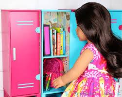 diy american girl doll school locker
