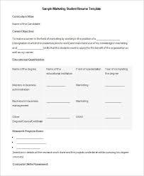 College Student Resume Template Microsoft Word Awesome Free Student Resume Templates Microsoft Word Student Resu Vintage