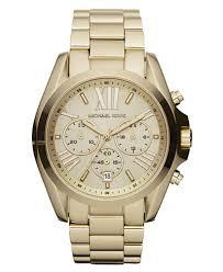michael kors women s chronograph bradshaw gold tone stainless michael kors women s chronograph bradshaw gold tone stainless steel bracelet watch 43mm mk5605