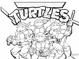 Small Picture Teenage Mutant Ninja Turtle Coloring Pages pertaining to Existing