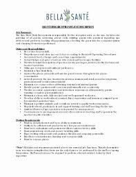 Hotel Receptionist Job Description For Resume Best Of Front Desk