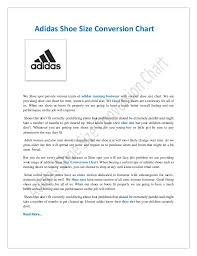 Adidas Children S Shoes Size Chart Adidas Size Chart