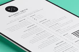 Simple Free Cool Resume Templates For Mac Also 40 Best 2018 S