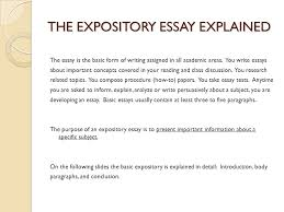 expository essay expository essay junior essay choose one of the    the expository essay explained the essay is the basic form of writing assigned in all academic